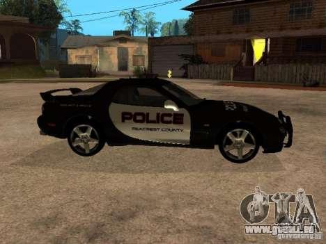 Mazda RX-7 Police für GTA San Andreas linke Ansicht