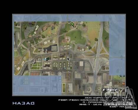 Detailed Map and Radar Mod pour GTA San Andreas deuxième écran