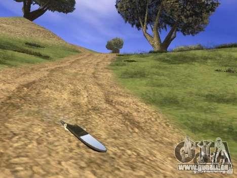 Aèrobord du film Retour vers le futur 2 pour GTA San Andreas sur la vue arrière gauche