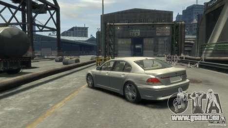 BMW 760I pour GTA 4 est une gauche