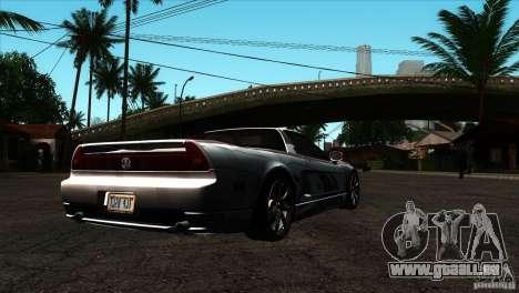 Acura NSX Stock pour GTA San Andreas vue de droite