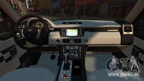 Range Rover TDV8 Vogue pour GTA 4 est un droit