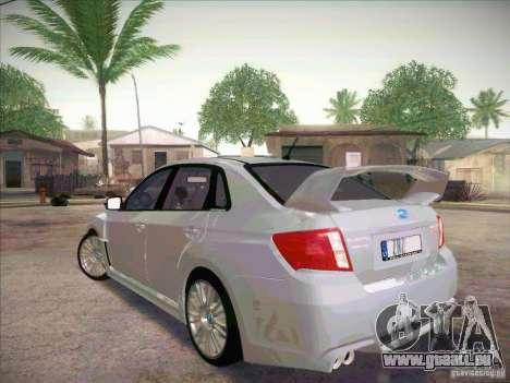 Subaru Impreza WRX STI 2011 Sedan pour GTA San Andreas laissé vue