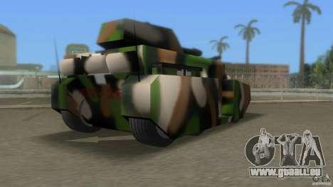 Bundeswehr-Panzer für GTA San Andreas rechten Ansicht