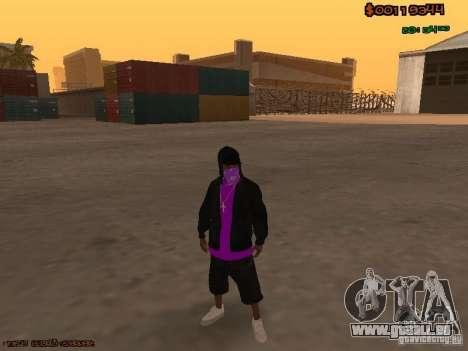Ballas skins pour GTA San Andreas deuxième écran