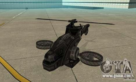 Ein Hubschrauber aus dem Spiel TimeShift Black für GTA San Andreas linke Ansicht