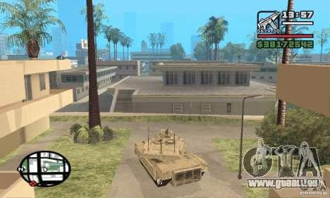 M1A2 Abrams TUSK pour GTA San Andreas sur la vue arrière gauche