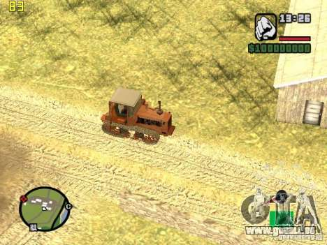 Tracteur DT-75 Postman pour GTA San Andreas vue de côté