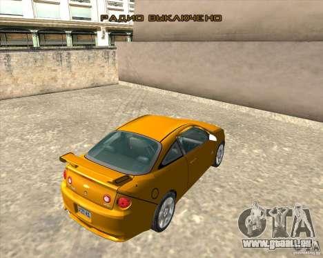 Chevrolet Cobalt SS für GTA San Andreas Rückansicht