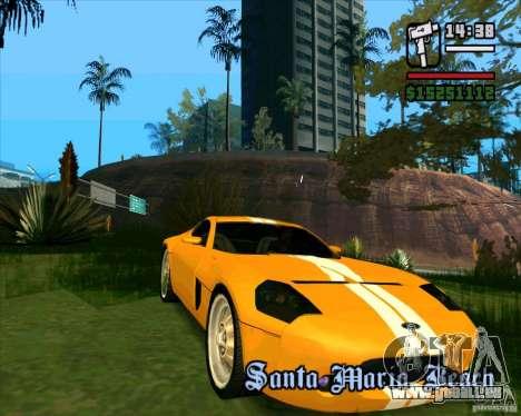 Shelby GR-1 pour GTA San Andreas laissé vue