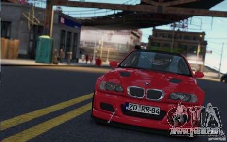 BMW M3 Street Version e46 pour GTA 4 Vue arrière