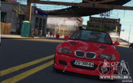 BMW M3 Street Version e46 für GTA 4 Rückansicht