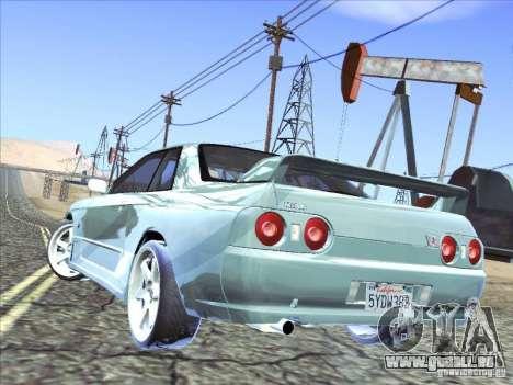 Nissan Skyline GT-R 32 1993 pour GTA San Andreas vue intérieure
