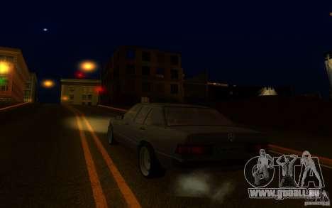 Mercedes-Benz 190E W201 pour GTA San Andreas laissé vue
