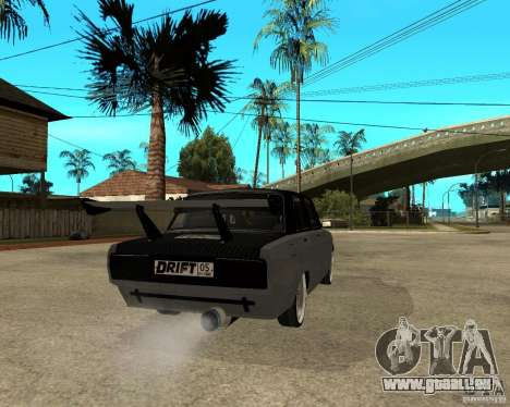 ВАЗ dérive de 2107 pour GTA San Andreas sur la vue arrière gauche
