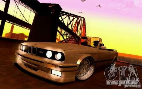 BMW E30 M3 Cabrio pour GTA San Andreas vue intérieure