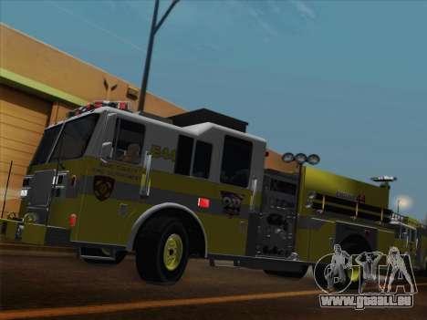 Seagrave Marauder II BCFD Engine 44 pour GTA San Andreas laissé vue