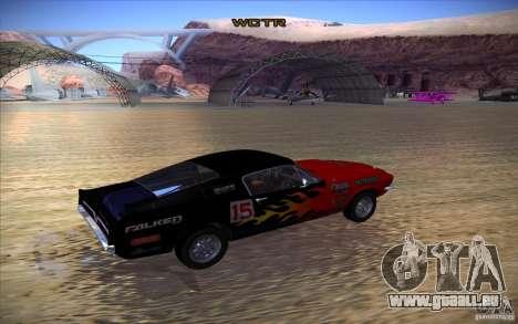 Shelby GT500 1967 für GTA San Andreas zurück linke Ansicht