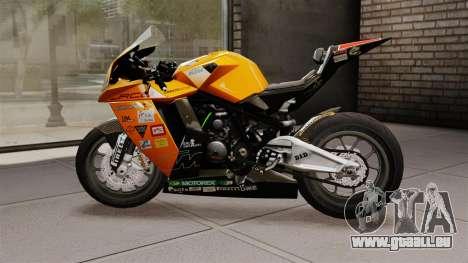 KTM RC8 R pour GTA 4 est une gauche
