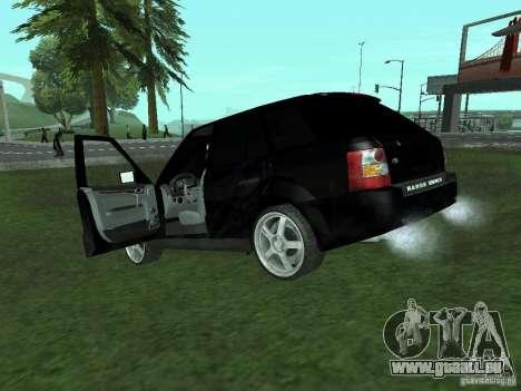 Land Rover Range Rover Sport pour GTA San Andreas sur la vue arrière gauche