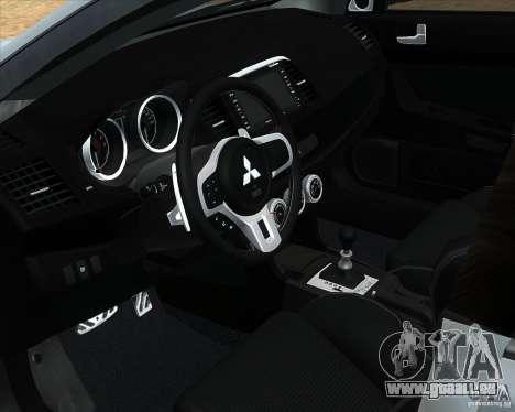 Mitsubishi Lancer Evolution X PPP Polizei für GTA San Andreas rechten Ansicht