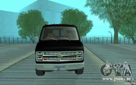 Chevrolet Van G20 1986 v2.0 für GTA San Andreas zurück linke Ansicht