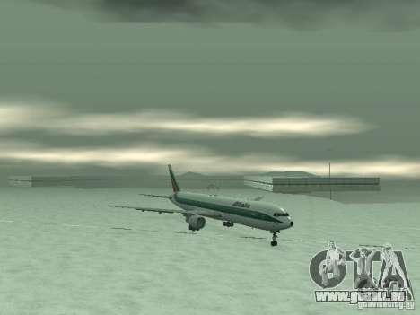 Boeing 767-300 Alitalia pour GTA San Andreas sur la vue arrière gauche