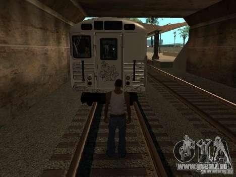 Le train de GTA IV pour GTA San Andreas vue arrière