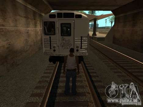 Der Zug aus GTA IV für GTA San Andreas Rückansicht