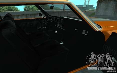 Chevrolet Chevelle SS pour GTA San Andreas sur la vue arrière gauche