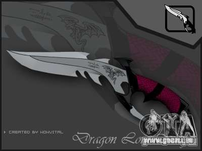 Dragon Lord knife pour GTA San Andreas