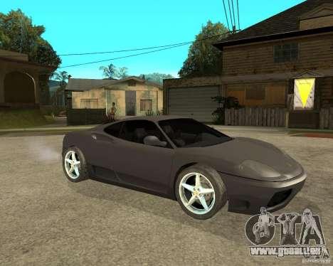 Ferrari 360 modena TUNEABLE pour GTA San Andreas vue de droite