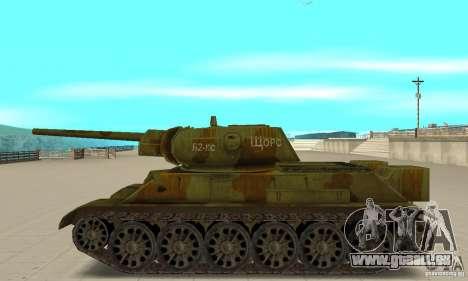 Panzer T-34/76 für GTA San Andreas linke Ansicht