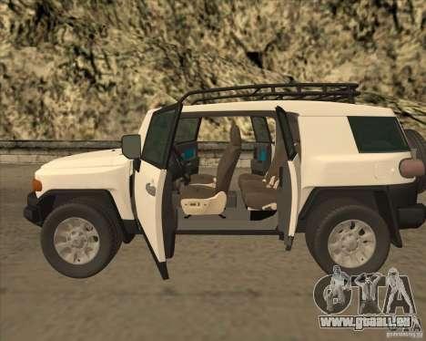 Toyota FJ Cruiser für GTA San Andreas Innenansicht