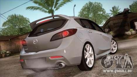 Mazda Mazdaspeed3 2010 für GTA San Andreas Unteransicht
