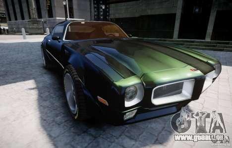 Pontiac Firebird 1971 pour GTA 4 est un côté