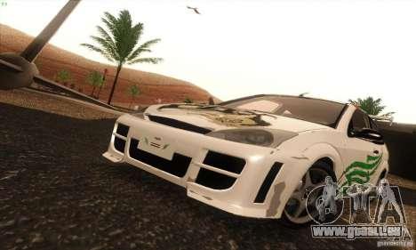 Ford Focus SVT TUNEABLE pour GTA San Andreas vue intérieure