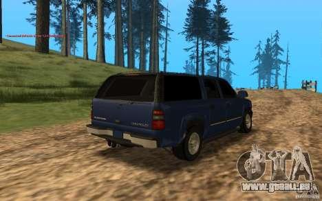 Chevrolet Suburban 2006 pour GTA San Andreas sur la vue arrière gauche