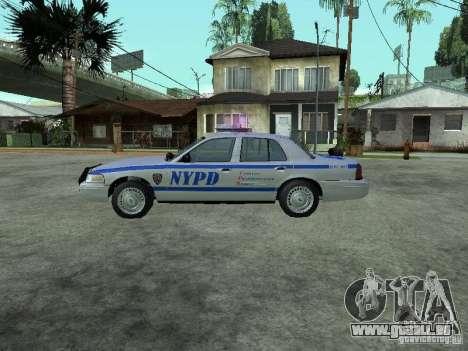 Ford Crown Victoria NYPD pour GTA San Andreas laissé vue