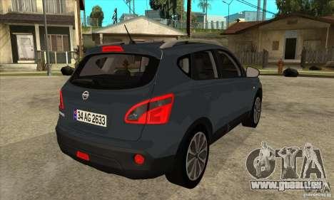 Nissan Qashqai 2011 für GTA San Andreas rechten Ansicht
