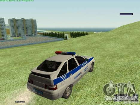 LADA 2112 DPS Police pour GTA San Andreas vue de droite