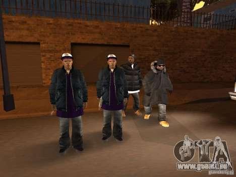 Vêtements d'hiver pour les Ballas pour GTA San Andreas