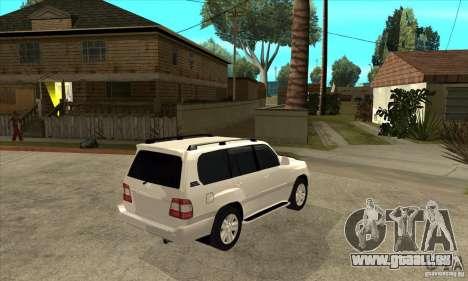 Toyota Land Cruiser 100vx v2.1 pour GTA San Andreas vue arrière
