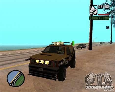 Machine de voiture-mort de mort pour GTA San Andreas quatrième écran