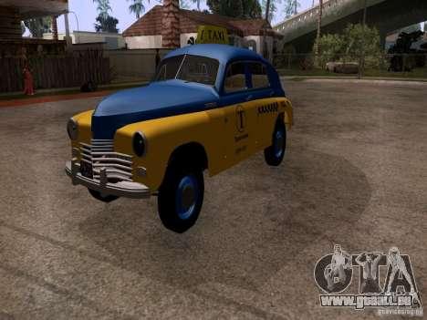GAZ M20 Pobeda Taxi pour GTA San Andreas vue de droite
