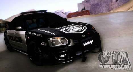 Subaru Impreza WRX STI Police Speed Enforcement für GTA San Andreas