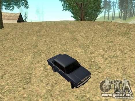 VAZ 2107 v1.1 pour GTA San Andreas vue intérieure