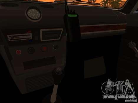 VAZ 2106 Polizei V 2.0 für GTA San Andreas Innen