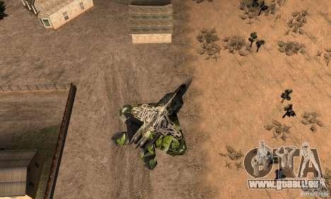F-22 Raptor Graffity Skin 2 pour GTA San Andreas vue de droite