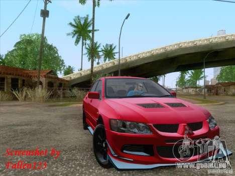 Mitsubishi Lancer Evolution VIII Varis für GTA San Andreas linke Ansicht